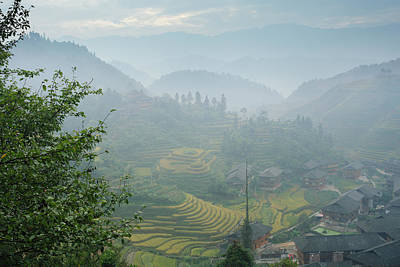 Photograph - Village Of Mist 1 by Afrison Ma