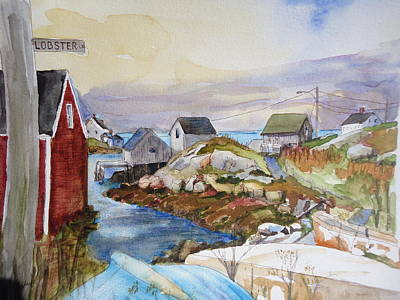 Painting - Village Of Pegys Cove by Luz Perez