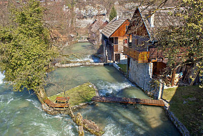 Photograph - Village Of Rastoke On River Cascade by Brch Photography