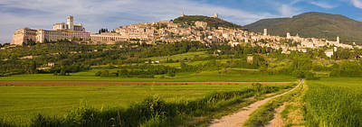 Village On A Hill, Assisi, Perugia Art Print