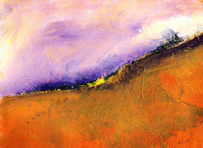 Spiritual Painting - Village On The Hill - Abstract Art Painting by Modern Art Prints