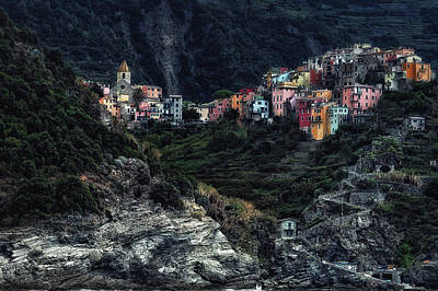Cinque Terre Photograph - Village  -on The Rocks- by Piet Flour