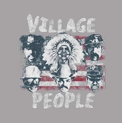 Village People Digital Art - Village People - Ameri Men by Brand A