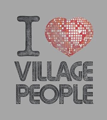 Village People Digital Art - Village People - I Heart Vp by Brand A