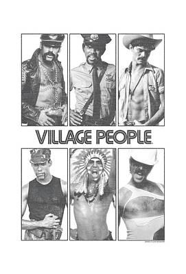 Village People Digital Art - Village People - Panels by Brand A