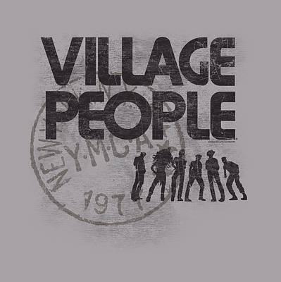Village People Digital Art - Village People - Stamped by Brand A