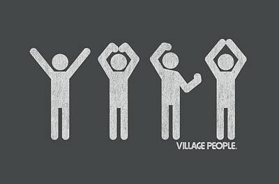 Village People Digital Art - Village People - Ymca by Brand A