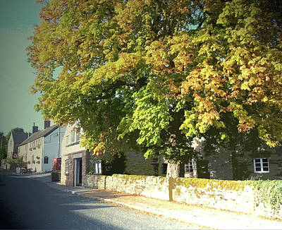Parish Drawing - Village Scene In Hognaston, Stood Opposite The Parish by Litz Collection