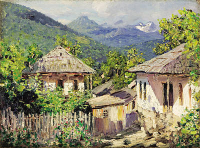 Painting - Village Scene In The Mountains by Nikolay Dubovskoy