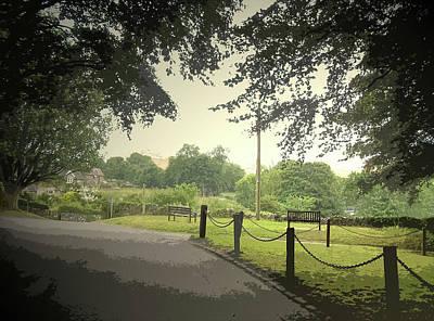 Village Scene In Thorpe, This Picture Was Taken Art Print