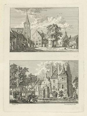 German Village Drawing - Village View In Griethausen, The Netherlands by Paulus Van Liender