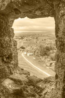 Photograph - Village Viewed From Corfe Castle by Chris Day
