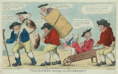 Clearing Drawing - Villagers Clearing Out Rubbish Engravd By Hixon by Litz Collection
