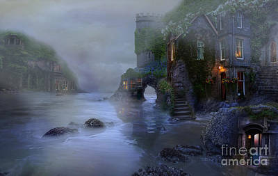 Digital Art - Villages By The Foggy Sea II by Lynn Jackson