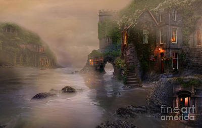 Digital Art - Villages By The Foggy Sea   by Lynn Jackson