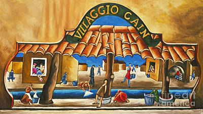 Painting - Villaggio Cain Art Print by William Cain