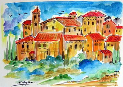 Villaggio Italiano Art Print by Roberto Gagliardi