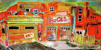 Outremont Painting - Villaneuve Garages by Michael Litvack