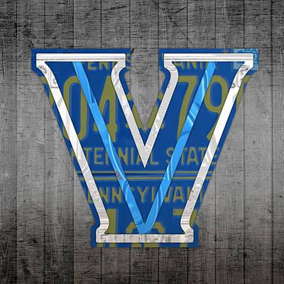 Villanova Wildcats College Sports Team Retro Vintage Recycled Pennsylvania License Plate Art Art Print by Design Turnpike
