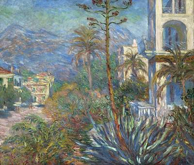 Villa Painting - Villas At Bordighera by Claude Monet
