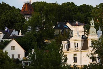 Villas On A Hill, Blankenese, Hamburg Print by Panoramic Images