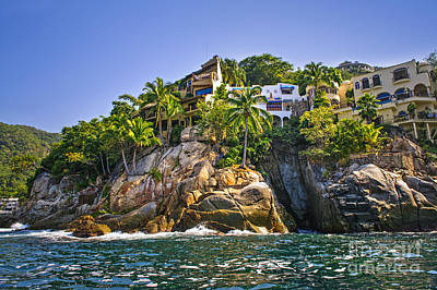 Puerto Vallarta Photograph - Villas On Rocks by Elena Elisseeva