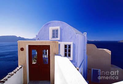 Villas Overlooking The Aegean Sea Art Print