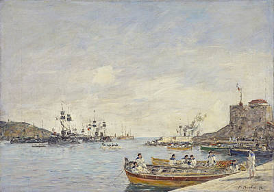 Villefranche Painting - Villefranche Harbor, 1892  by Eugene Louis Boudin