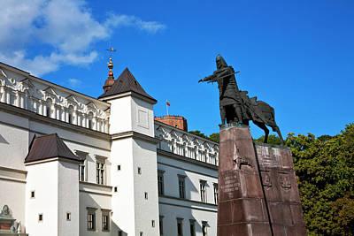 Vilnius Photograph - Vilnius, Lithuania, Lietuva, Monument by Miva Stock