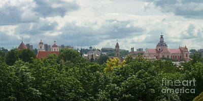Photograph - Vilnius Lithuania Panorama 2 by Rudi Prott