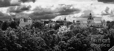 Photograph - Vilnius Lithuania Panorama 3 by Rudi Prott