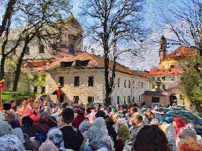 Digital Art - Vilnius Monastery At Easter 2 by Yury Malkov