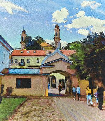 Old Town Digital Art - Vilnius Monastery Gate by Yury Malkov