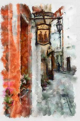 Digital Art - Vilnius Old Street Walk 2 by Yury Malkov