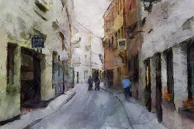 Digital Art - Vilnius Old Street Walk 3 by Yury Malkov