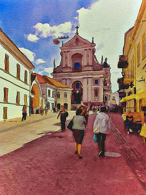 Old Town Digital Art - Vilnius Old Town 12 by Yury Malkov