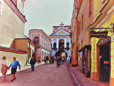 Old Town Digital Art - Vilnius Old Town 13 by Yury Malkov