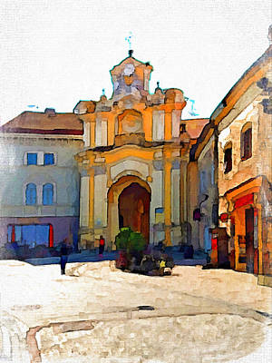 Old Town Digital Art - Vilnius Old Town 33 by Yury Malkov