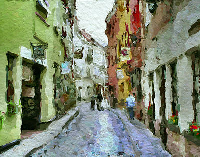 Old Town Digital Art - Vilnius Old Town 36 by Yury Malkov