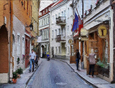 Vilnius Old Town 37 Art Print by Yury Malkov