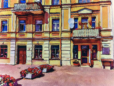 Old Town Digital Art - Vilnius Old Town Architecture by Yury Malkov