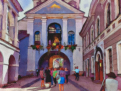 Old Town Digital Art - Vilnius Old Town Golden Gate 2 by Yury Malkov