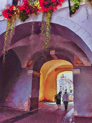 Old Town Digital Art - Vilnius Old Town Golden Gate 3 by Yury Malkov