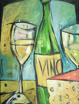 Painting - Vin Et Fromage by Tim Nyberg