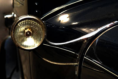 Photograph - Vinatage Car Headlight 6815 by Brent L Ander