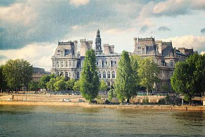 Red Roses - Vintage Paris Postcard by Heidi Hermes