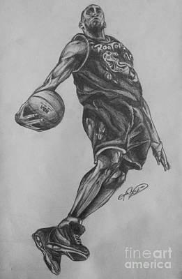 Vince Carter Drawing - Vince Carter - Toronto Raptors by Erik Axebrink