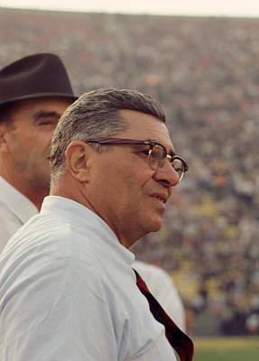 Vince Photograph - Vince Lombardi Coaching by Retro Images Archive
