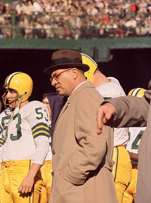Newman Photograph - Vince Lombardi In Trench Coat by Retro Images Archive