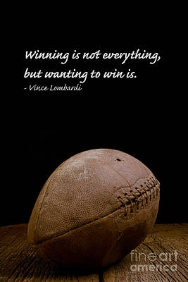 Inspirational Photograph - Vince Lombardi On Winning by Edward Fielding
